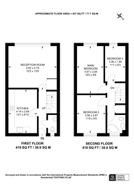 Large floorplan for Granville Road, Temple Fortune, NW2