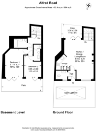 Large floorplan for Alfred Road, Acton, W3