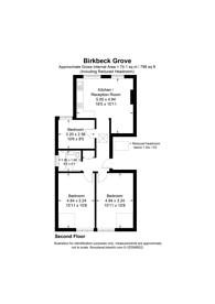 Large floorplan for Birkbeck Grove, Acton, W3