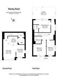 Large floorplan for Stanley Road, Acton, W3