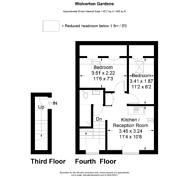 Large floorplan for Wolverton Gardens, Brook Green, W6