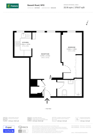 Large floorplan for Bassett Road, North Kensington, W10