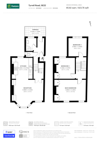 Large floorplan for Tyrrell Road, East Dulwich, SE22