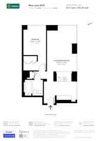 Large floorplan for Moor Lane, Clerkenwell, EC2Y