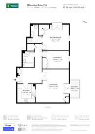 Large floorplan for Millennium Drive, Canary Wharf, E14