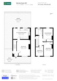 Large floorplan for Meridian Road, Charlton, SE7
