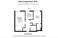 Large floorplan for Royal Carriage Mews, Woolwich, SE18