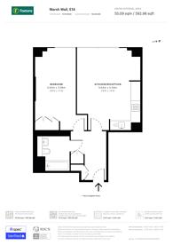 Large floorplan for Marsh Wall, Canary Wharf, E14