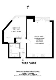 Large floorplan for Hans Crescent, Knightsbridge, SW1X