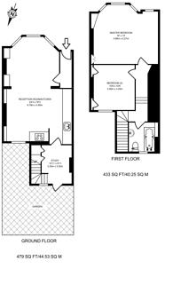 Large floorplan for Shorrolds Road, Fulham, SW6