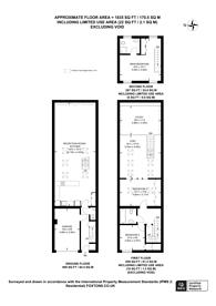 Large floorplan for Petersham Lane, South Kensington, SW7