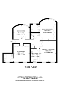 Large floorplan for Gloucester Square, Hyde Park Estate, W2