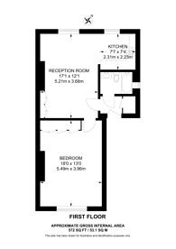 Large floorplan for South Villas, Camden, NW1