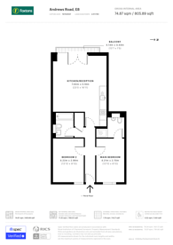 Large floorplan for Andrews Road, Broadway Market, E8