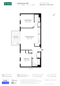 Large floorplan for Cheering Lane, Stratford, E20