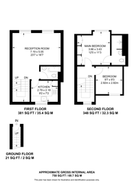 Large floorplan for Dalyell Road, Brixton, SW9