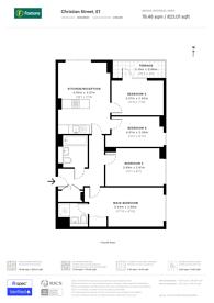 Large floorplan for Christian Street, Whitechapel, E1