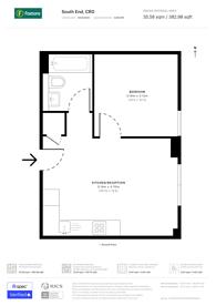 Large floorplan for South End, Croydon, CR0