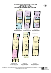 Large floorplan for Buckingham Place, Westminster, SW1E