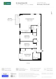 Large floorplan for Birkdale House, Poplar, E14