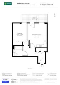 Large floorplan for Back Church Lane, Aldgate, E1