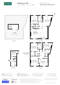 Large floorplan for Redfield Lane, Earls Court, SW5
