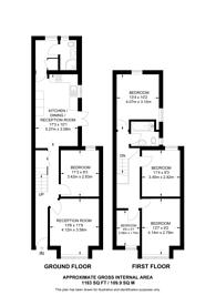 Large floorplan for Mellison Road, Tooting, SW17