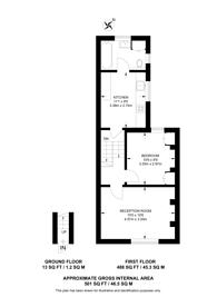 Large floorplan for Landor Walk, Shepherd's Bush, W12