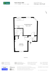 Large floorplan for Rymer Street, Herne Hill, SE24