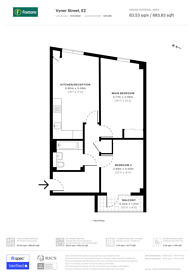Large floorplan for Vyner Street, Bethnal Green, E2
