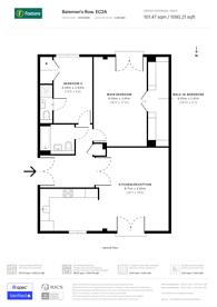 Large floorplan for Batemans Row, Shoreditch, EC2A