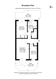 Large floorplan for Brompton Park Crescent, West Brompton, SW6