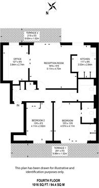 Large floorplan for Tiltman Place, Finsbury Park, N7