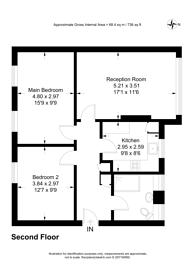 Large floorplan for Oakhill Road, East Putney, SW15