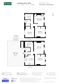 Large floorplan for Lloyd Baker Street, Clerkenwell, WC1X