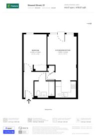 Large floorplan for Steward Street, Tower Hamlets, E1