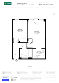 Large floorplan for Steward Street, Spitalfields, E1