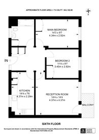 Large floorplan for Redlands Way, Brixton Hill, SW2