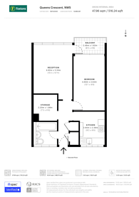 Large floorplan for Queens Crescent, Chalk Farm, NW5