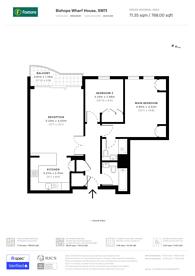 Large floorplan for Parkgate Road, Battersea Park, SW11