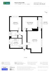 Large floorplan for Pawsons Road, Croydon, CR0