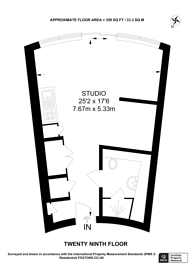 Large floorplan for Crossharbour Plaza, Canary Wharf, E14