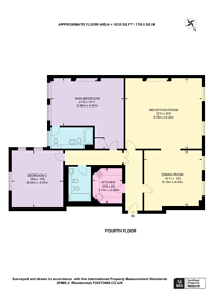 Large floorplan for Hill Street, Mayfair, W1J