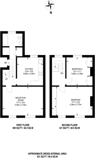 Large floorplan for Lilford Road, Camberwell, SE5