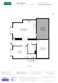 Large floorplan for Vulcan Way, Islington, N7