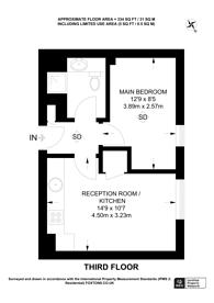 Large floorplan for Argyll Street, Soho, W1F