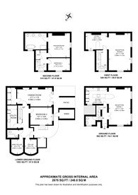 Large floorplan for Sussex Street, Pimlico, SW1V