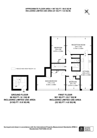 Large floorplan for Six Acres Estate, N4, Finsbury Park, N4