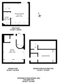 Large floorplan for Prince Arthur Mews, Hampstead, NW3