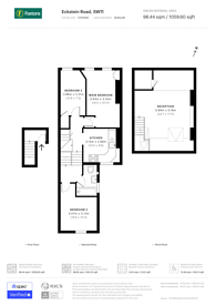 Large floorplan for Eckstein Road, Clapham Junction, SW11